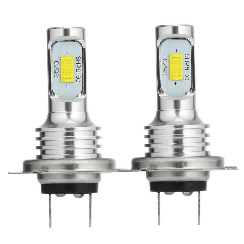2pcs H7 CSP Car LED Headlight Headlamp Bulbs Conversion Kit High/Low Beam 72W 8000LM 6000K Super Bright Car LED Headlight