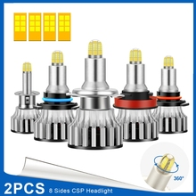2020 nova h1/h7/h8 h9 h11/9005/9006 led faróis do carro lâmpadas 24led 120w 6500k 360 graus de iluminação farol do carro g6