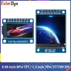 TFT дисплей 0,96/1,3 1,44 дюймов IPS 7P SPI HD 65K полноцветный ЖК-модуль ST7735 Привод IC 80*160 (не OLED) для Arduino
