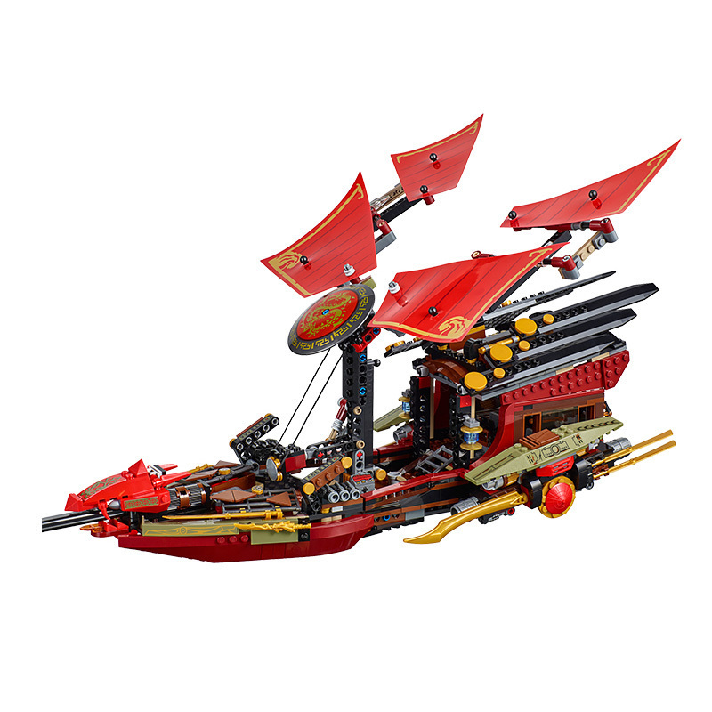 1253pcs 06020 Building Blocks Compatible Ninjagion 70738 Ninjago Figure Final Flight Of Desting's Bounty Toys For Children gift 1
