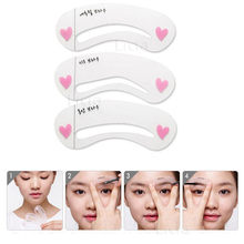 3 Pcs Reusable New Eyebrow Template Stencil Tool Makeup Eye Brow Template Shaper Make Up Tool Eye Brow Guide Template DIY Beauty(China)
