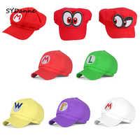 Sombrero de Super Mario cosplay Luigi Waluigi Wario, gorra con visera Super Mary Odyssey Cappy, sombreros 3D, sombreros de béisbol de dibujos animados para Cosplay, juguetes de peluche