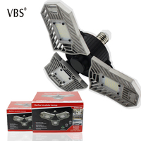 AC85 265V E27 LED Bulb Foldable Fan Blade Bulb 60W LED Adjustable Lamp Super Bright for square Indoor Home Ceiling Lighting D4