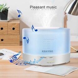 500 мл ультразвуковой увлажнитель воздуха, Электрический ароматерапия, эфирное масло, арома-диффузор с Bluetooth музыкальным динамиком