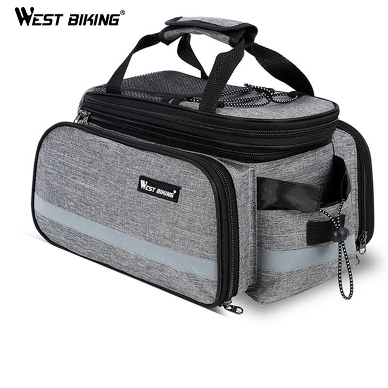 WEST BIKING Bike Waterproof Seat Pannier Pack Luggage Cycling Bag 10-25L Bicycle Pannier Bag Rear Rack Trunk Bag With Rain Cover