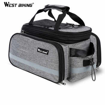 WEST BIKING Bike Waterproof Seat Pannier Pack Luggage Cycling Bag 10-25L Bicycle Pannier Bag Rear Rack Trunk Bag With Rain Cover - DISCOUNT ITEM  52 OFF Sports & Entertainment