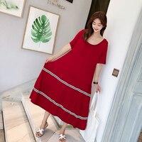 Новая женская ночная рубашка большого размера из модала, ночная рубашка, длинное платье для беременных, домашняя одежда, ночная рубашка для ...