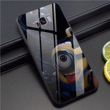 Minions Tempered Glass Phone Case for Samsung