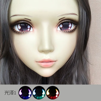 (DM072) Girl Sweet Resin Japanese Anime Kigurumi Mask Cosplay Lolita Crossdressing Lifelike BJD Masks Eye's Color for Choose