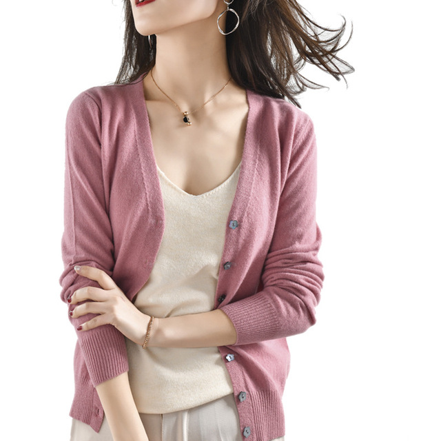 Купить 2020 новый женский шерстяной вязаный кардиган с длинными рукавами картинки цена