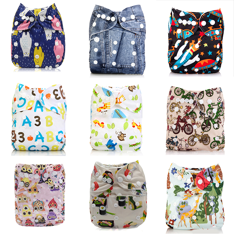 Washable Eco-Friendly Cloth Diaper Adjustable Nappy Reusable Cloth Diapers Fit 0-2years 3-15kg Baby