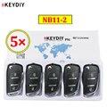 5 шт./лот KEYDIY 2 кнопки многофункциональный пульт дистанционного управления NB11-2 серии NB универсальный для KD900 URG200 KD-X2 все функции в одном