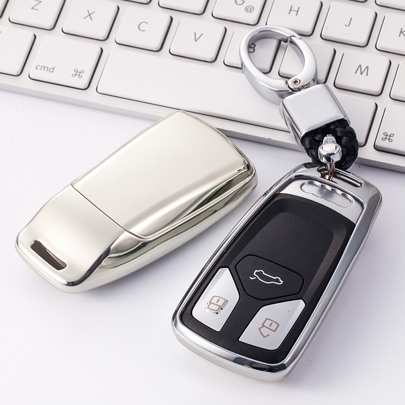 Car Key Cover Case TPU  Car Styling Key Cover Case For AUDI A4 B9 Q5 Q7 TT TTS 8S 2016 2017 Car Keyless Remote