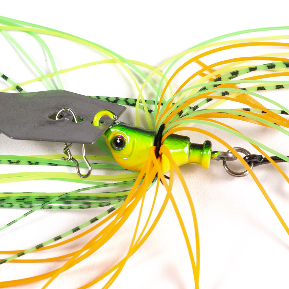 Hengjia 6pcs 11g Chatterbait Blade Bait with Rubber Skirt Weedless Fishing Lure Set Mixed Color-4