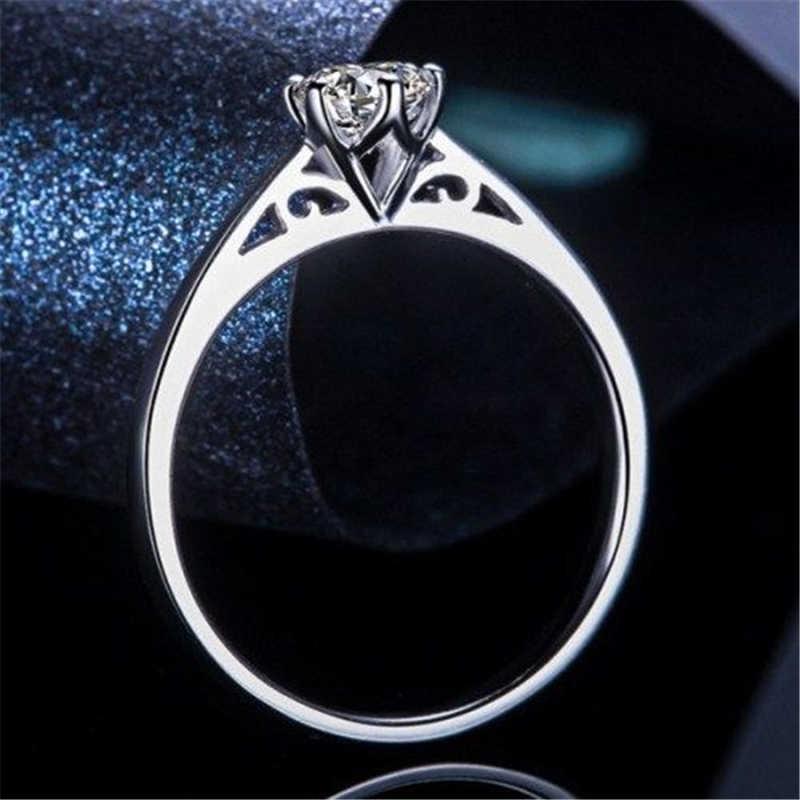 Горячая мода 6 коготь кольцо 3 мм/5 мм не выцветает кольцо Размер 4 9 обручальное кольцо Винтаж для женщин Свадебные кольца браслет ювелирные изделия|Обручальные кольца| | АлиЭкспресс