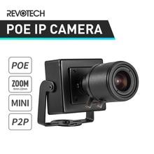 POE HD 1080P 6 22 มม.ซูมเลนส์ Mini ประเภท 2.0MP ในร่มกล้องรักษาความปลอดภัยกล้อง IP ONVIF p2P กล้องวงจรปิด Cam ระบบ