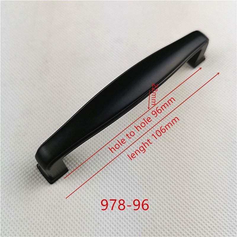 Ручки для шкафа из цинкового сплава черного цвета в американском стиле, дверные ручки для кухонного шкафа, ручки для выдвижных ящиков, модные мебельные ручки, фурнитура - Цвет: 978-96