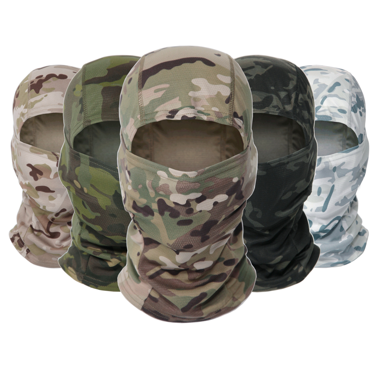 Tactical Camo Balaclava Bike Bandana Scarf Neck Warmer Fishi…