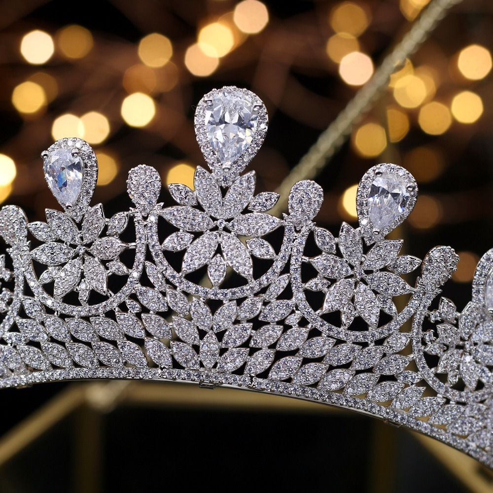 Хрустальные стразы, свадебная корона тиара, диадема, Королевская корона, головной убор, аксессуары для волос, женский свадебный головной уб... - 6