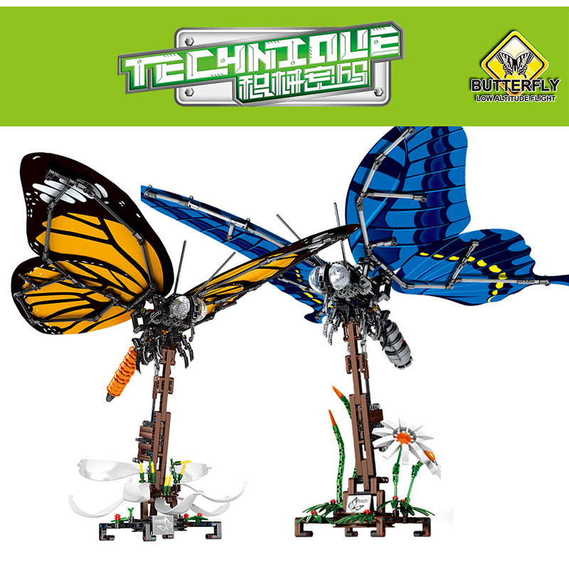 Simulated Insect DIY Dragonfly Bee Butterfly Animals Figures Building Blocks Compatible Legoed Technic Creator Bricks Child Toys