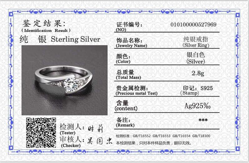 YANHUI Mit Zertifikat 0,75 ct Lab Diamant Ringe Für Frauen Party Elegante Braut Schmuck 925 Silber Hochzeit Engagement Ringe R036