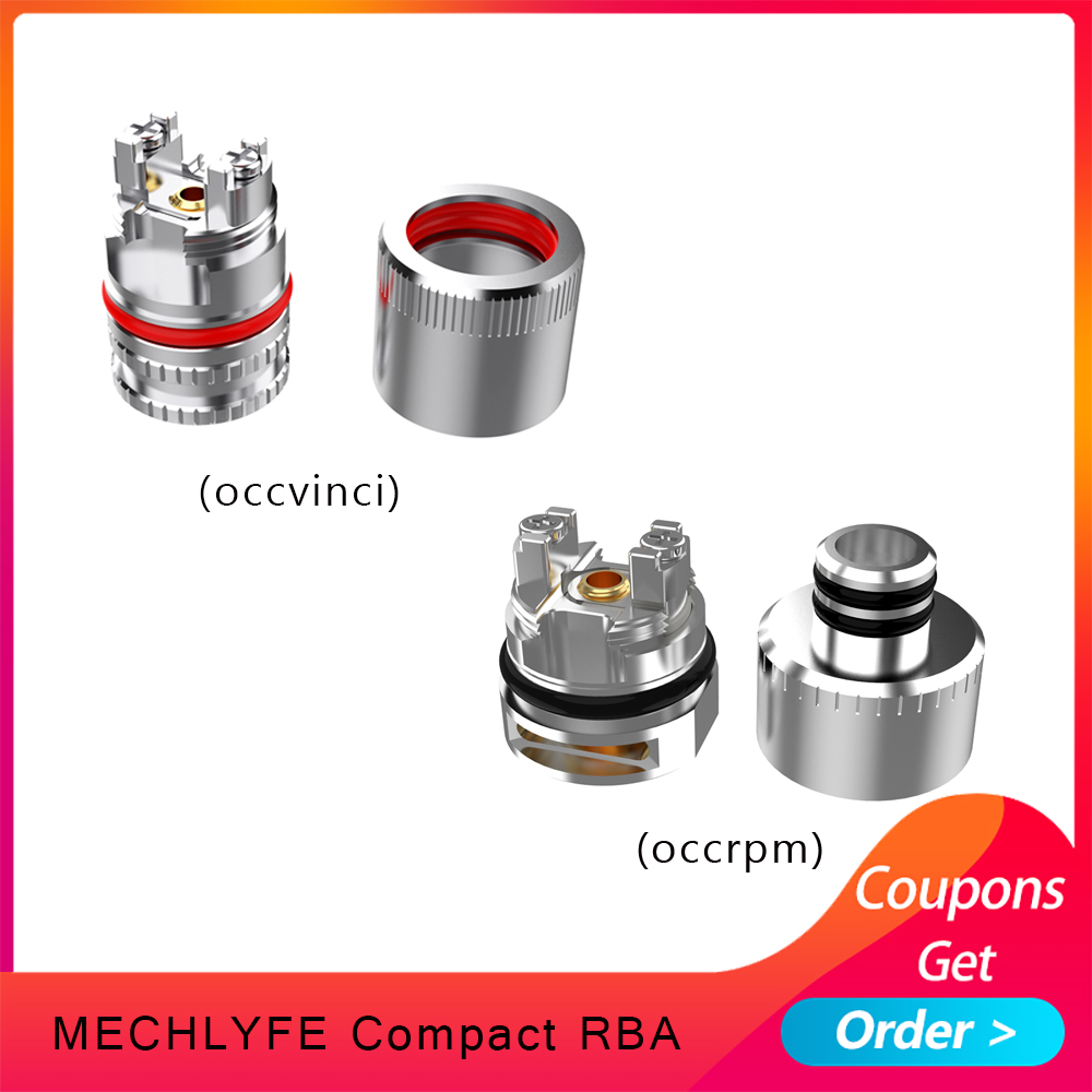 1pcs Vaping Tank COMPACT RBA  Atomizer Coil Head 510 Thread Design Cores For Rpm Pod/vinci Pod VS Vinci RBA