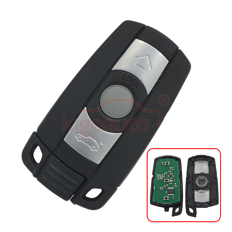1,3,5 SERIES E36 E87 E90 E91 Smart key 868Mhz KR55WK49127 avec puce pcf7945 pour BMW 3 bouton kigoauto
