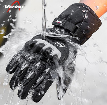 VEMAR Winter Motorcycle Gloves Fleece Keep Warm Breathable Guantes Moto Luvas Motorbike Non-slip Motocross Waterproof Gloves цена 2017