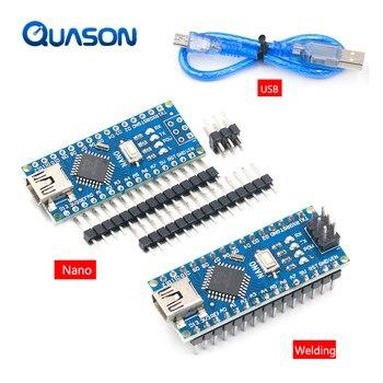Акция для контроллера arduino Nano 3,0 Atmega328, совместимая плата WAVGAT, модуль платы разработки PCB без USB V3.0