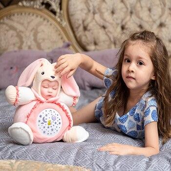 Luminous Toy LED Night Light Stars Projector Children Sleep With Colorful Light Luminous Music Animals Lamp Stuffed Plush Toys