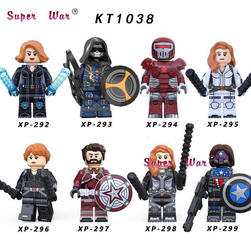 Single Avengers Endgame Black Widow Taskmaster Crimson Dynamo Red Guardian Thor Loki  IronMan Building Blocks Kids Toys