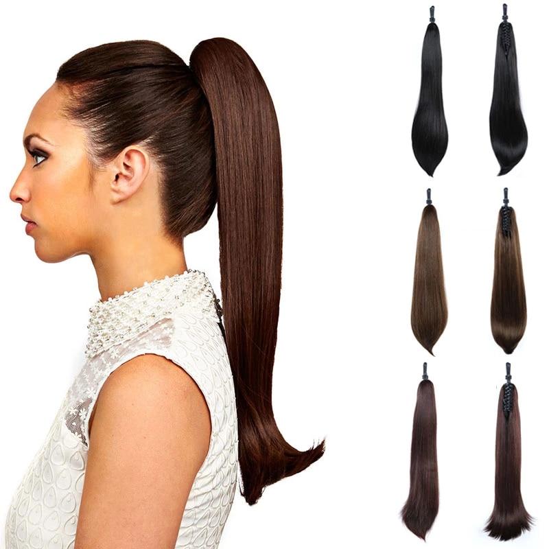 Термостойкие волосы DIANQI, длинные прямые синтетические волосы, прически для конского хвоста