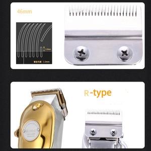 Image 2 - Kemei 1986 all metal barbeiro máquina de cortar cabelo profissional elétrica sem fio lcd aparador de cabelo ouro prata máquina de corte de cabelo cortador