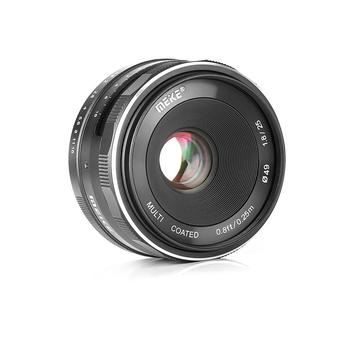 Lente de enfoque Manual de gran angular Meike 25mm F1.8 APS-C para EF-M montaje N1Mount E montaje FX M43 montaje sin espejo lentes de cámara