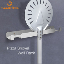 PizzAtHome Pizza Shovel Wall Rack Brushed Stainless Steel Pizza Peel Rack Wall Mounted Hanger Heavy Duty Pizza Shovel Holder