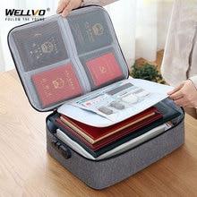 Men Business Document Travel Bag Women Antitheft Certificate
