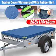 208x114x13cm Trailer Cover Sunshade Outdoor Snow Protection Waterproof Dustproof Car Roof Tent Cover Canopy(China)