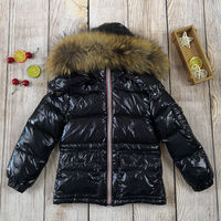 Kids Winter Down Jacket Natural Fur Collar Toddler Clothing Children Warm Outerwear Parka Coat For Baby Boys Girls 85 145 Snowsu