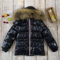 Kids Winter Down Jacket Natural Fur Collar Toddler Clothing Children Warm Outerwear Parka Coat For Baby Boys Girls 85 145 Snowsu
