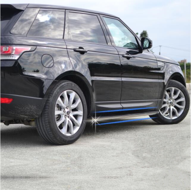 Aluminum Alloy + ABS For Car Running Board Side Step Nerf Bar Guard For Land Rover Range Rover Sport 214 2015 2016 2017 2018