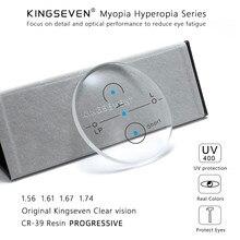 KINGSEVEN-lentes multifocales graduales graduadas para miopía, lentes multifocales graduadas para miopía, resistencia a la hipermetropía, objetivo medio lejano corto 1,56 1,61 1,67