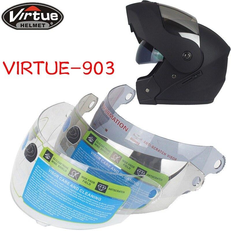 VIRTUE 903 Lens Motorcycle Anti-scratch Wind Shield Helmet Lens Visor Full Face Fit For Virtue 903 Helmet Motorcycle Accessories