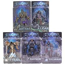 Neca heróis da tempestade arthas sylvanas tyrael illidan nova raynor pvc figura de ação collectible modelo brinquedo