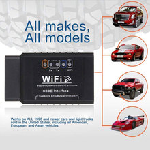 ELM327 OBD2 WIFI Car Diagnostics Code Detector Tester Interface Mini Diagnostic Tool Clear Trouble For IOS Android