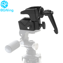Multi Function DSLR Camera Fixing Mount Clip Photo Studio Aluminum Alloy CNC Supper Clamp for Canon for Nikon Tripod Accessories