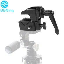Çok fonksiyonlu DSLR kamera sabitleme montaj klip fotoğraf stüdyosu alüminyum alaşımlı CNC süper kelepçe Canon Nikon Tripod aksesuarları