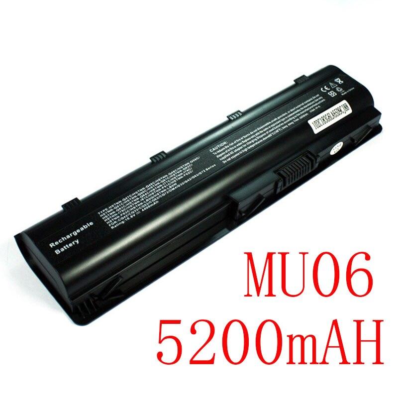 5200mAh Laptop Battery MU06 593553-001 For HP G62 G72 CQ42 DM4 Notebook PC HSTNN-UB0W WD548AA