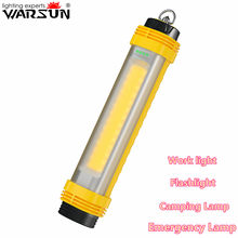 Warsun 2021 New Rechargeable LED Magnet Worklight Powerful Torch Latern Outdoor COB Emergency Camping Lamp With Power Bank