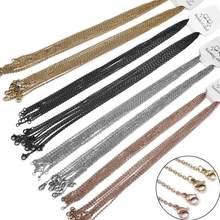 10 sztuk 50cm ogniwo ze stali nierdzewnej łańcuch z karabińczyk złoty czarny różowe złoto srebro kolorowe do DIY naszyjnik tworzenia biżuterii sprzedaż hurtowa