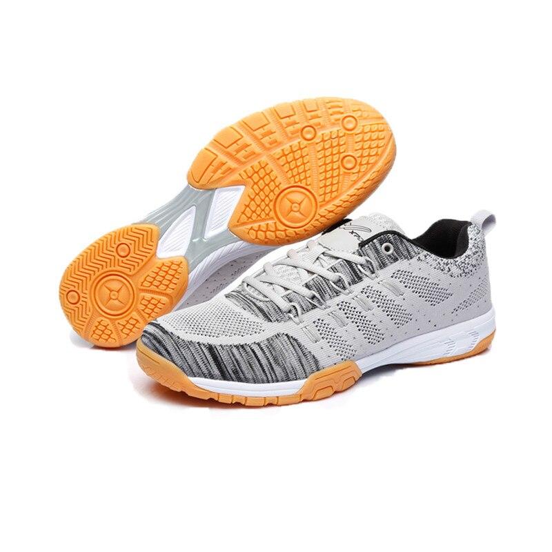 Professionnel hommes femmes chaussures de Badminton maille respirant Sport formateurs léger intérieur Court chaussures pour unisexe Tennis baskets